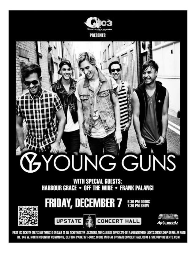 Frank Palangi opening for Young Guns